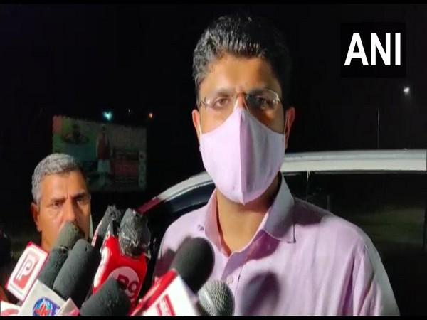Haryana Deputy Chief Minister Dushyant Chautala speaking to reporters on Monday.