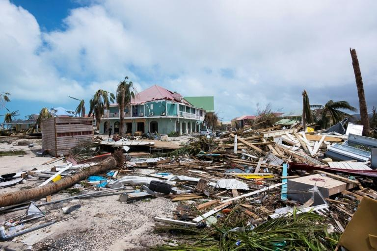 Irma's path through the Caribbean has left a shambles of a string of islands, like this scene of destruction in the French island of St Martin