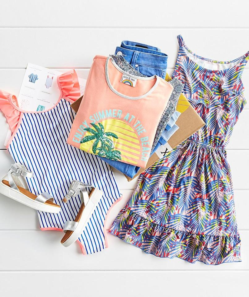 """<p>In 2018, the best-selling adult fashion subscription box among <em>Real Simple </em>readers launched a kids version, <a href=""""https://stitch-fix.sjv.io/c/249354/477659/8369?u=https%3A%2F%2Fwww.stitchfix.com%2Fkids&sharedid=Time100Kids_RSBestKidsSubscriptionBoxes"""" target=""""_blank"""">Stich Fix Kids</a>. It works similarly to the original sets, sending over eight to 12 items in sizes 2T to 14 that are handpicked by a stylist based on an online profile you make with your kids needs and preferences. You have three days to decide what you keep and what you send back, and if you keep everything in the box, you get a 25 percent discount</p> <p><strong>To buy</strong>: $20 styling fee that goes toward any final purchases; <a href=""""https://stitch-fix.sjv.io/c/249354/477659/8369?u=https%3A%2F%2Fwww.stitchfix.com%2Fkids&sharedid=Time100Kids_RSBestKidsSubscriptionBoxes"""" target=""""_blank"""">stitchfix.com</a>.</p>"""