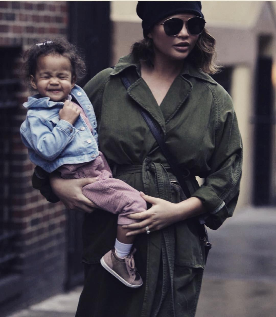 """<div class=""""caption""""> <a href=""""https://www.wmagazine.com/topic/chrissy-teigen?mbid=synd_yahoo_rss"""" rel=""""nofollow noopener"""" target=""""_blank"""" data-ylk=""""slk:Chrissy Teigen"""" class=""""link rapid-noclick-resp"""">Chrissy Teigen</a> and <a href=""""https://www.wmagazine.com/topic/john-legend?mbid=synd_yahoo_rss"""" rel=""""nofollow noopener"""" target=""""_blank"""" data-ylk=""""slk:John Legend"""" class=""""link rapid-noclick-resp"""">John Legend</a>'s daughter Luna has been omnipresent on Teigen's Instagram grid pretty much ever since she was born in 2016. The same will no doubt be true for the son whom Teigen's currently pregnant with. </div> <cite class=""""credit"""">Courtesy of <a href=""""https://www.instagram.com/chrissyteigen/"""" rel=""""nofollow noopener"""" target=""""_blank"""" data-ylk=""""slk:@chrissyteigen"""" class=""""link rapid-noclick-resp"""">@chrissyteigen</a></cite>"""