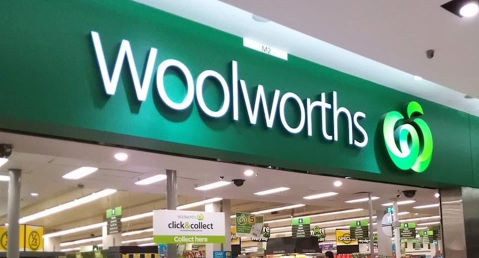 Front of a Woolworths after Made in Australia labelling scandal.