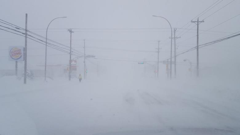 Blowing snow still an issue in Kings County