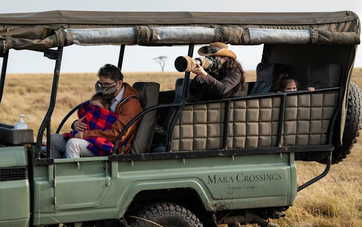 Domestic tourists on the Maasai Mara - there are almost no international visitors - Simon Townsley
