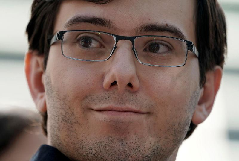 FILE PHOTO: Former drug company executive Martin Shkreli exits U.S. District Court after being convicted of securities fraud, in the Brooklyn borough of New York City
