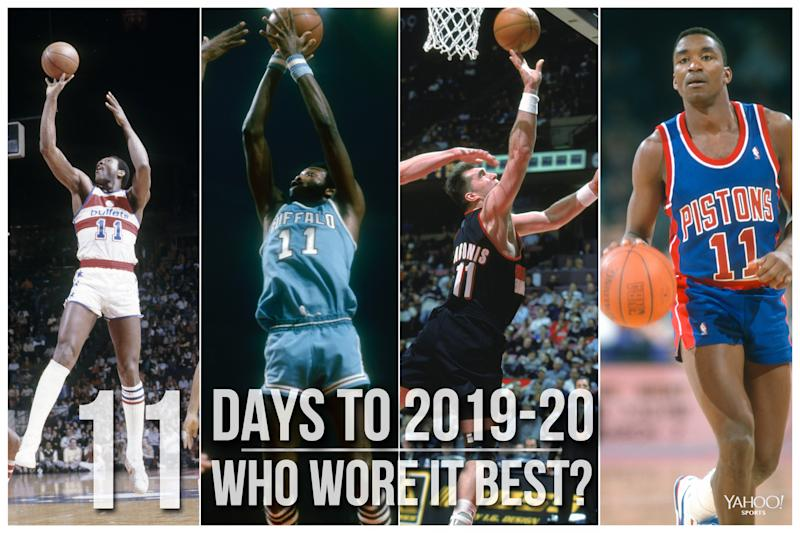 Which NBA player wore No. 11 best?