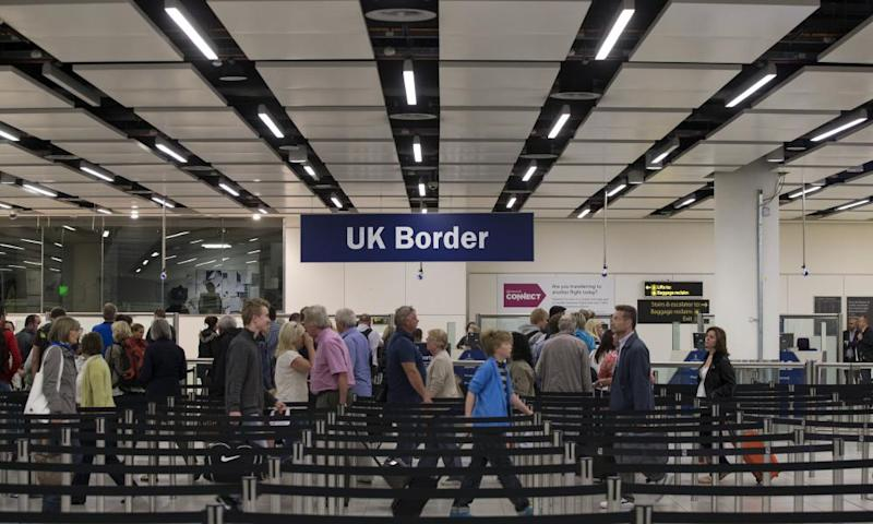 UK border security at Gatwick airport