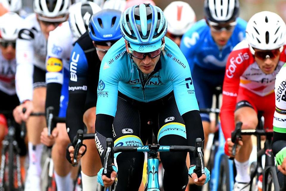 SALLENT DE GLLEGO SPAIN  OCTOBER 25 Gorka Izagirre Insausti of Spain and Astana Pro Team  Breakaway  during the 75th Tour of Spain 2020  Stage 6 a 1464km stage from Biescas to Sallent de Gllego  Aramn Formigal 1790m  lavuelta  LaVuelta20  La Vuelta  on October 25 2020 in Sallent de Gllego Spain Photo by David RamosGetty Images