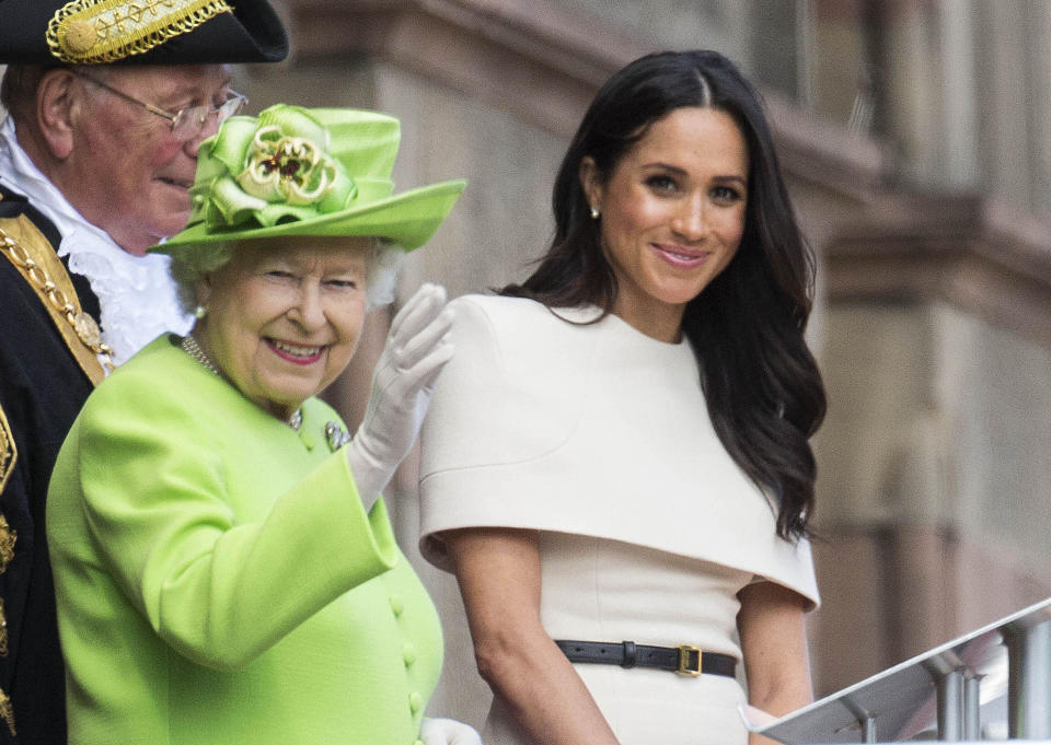 Meghan Markle la reina Isabel II (Getty Images)