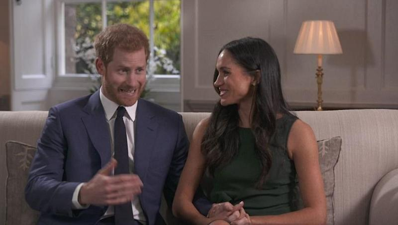 The loved-up pair couldn't stop looking in each other's eyes. Photo: BBC