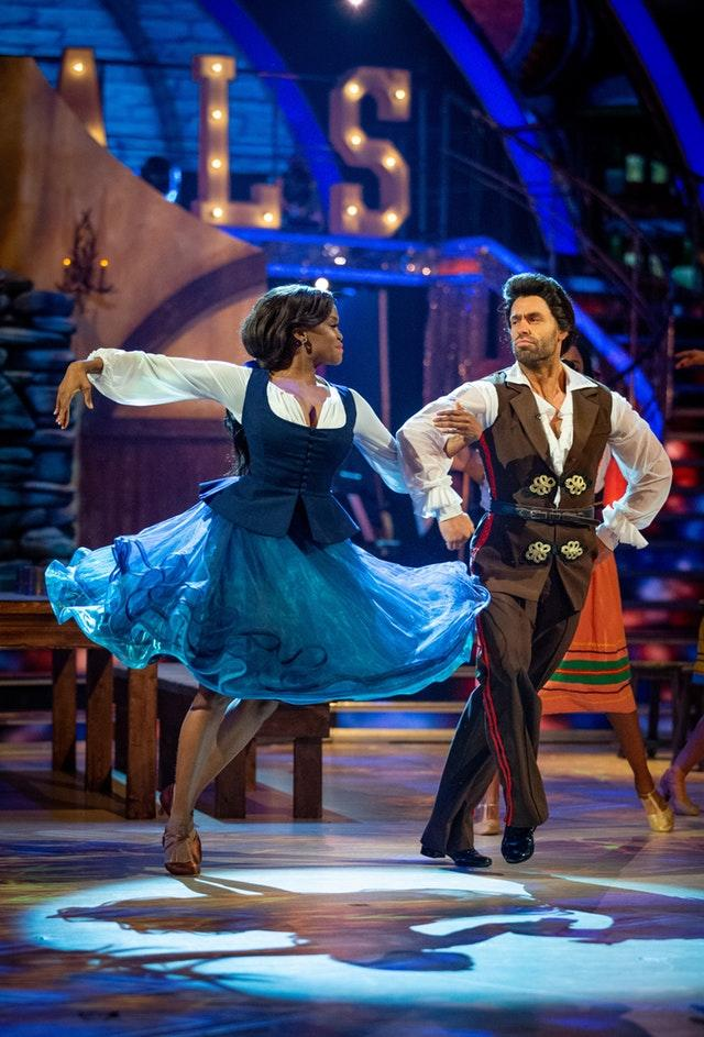 Oti Mabuse and Kelvin Fletcher on Strictly Come Dancing