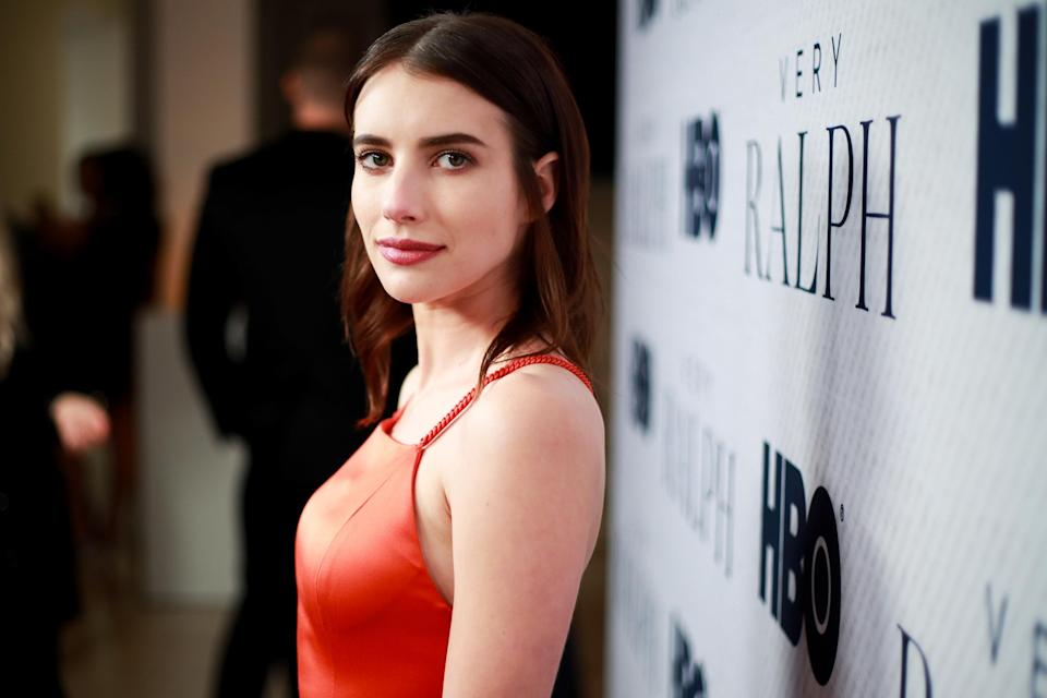 Emma Roberts is pictured at a film premiere in 2019