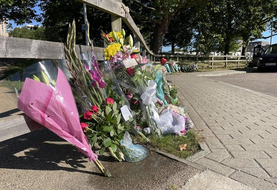 Floral tributes at Cator Park in Kidbrooke (Laura Parnaby/PA) (PA Wire)