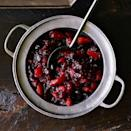 """<p>There will be nothing easier to make on your Thanksgiving menu than homemade cranberry sauce. Keep it simple and very basic or spice it up with dried fruit, juice, citrus zest, and/or spices.</p> <p><a href=""""https://www.myrecipes.com/recipe/cranberry-blenheim-apricot-sauce"""" rel=""""nofollow noopener"""" target=""""_blank"""" data-ylk=""""slk:Cranberry and Blenheim Apricot Sauce Recipe"""" class=""""link rapid-noclick-resp"""">Cranberry and Blenheim Apricot Sauce Recipe</a></p>"""