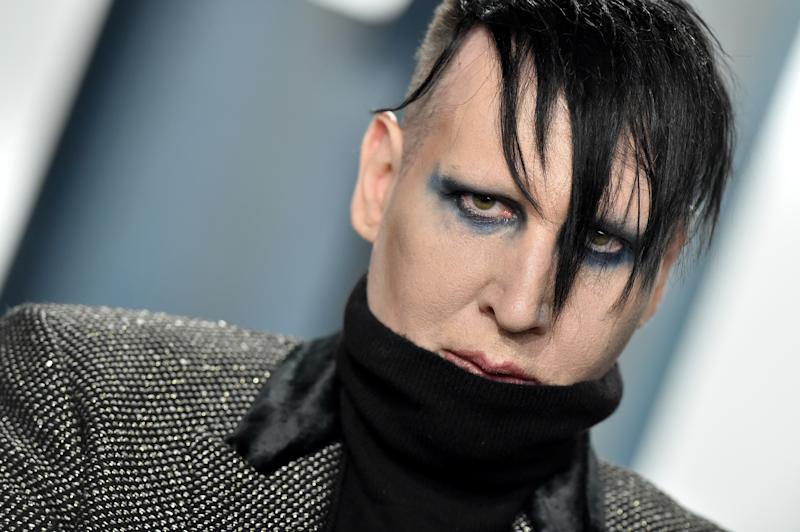 BEVERLY HILLS, CALIFORNIA - FEBRUARY 09: Marilyn Manson attends the 2020 Vanity Fair Oscar Party hosted by Radhika Jones at Wallis Annenberg Center for the Performing Arts on February 09, 2020 in Beverly Hills, California. (Photo by Axelle/Bauer-Griffin/FilmMagic)