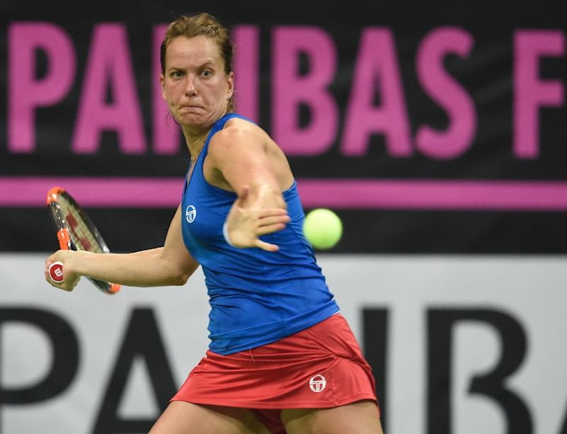 Barbora Strycova put the Czechs ahead in the final as they aim for a sixth Fed Cup title in eight years