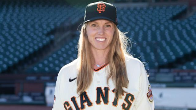 Alyssa Nakken, 29, is honoured to be taking on the challenge with the San Francisco Giants in MLB.