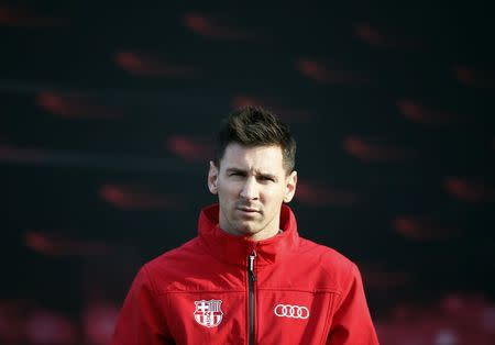 fd05c83052d Barcelona  39 s soccer player Lionel Messi takes part in a commercial event  at