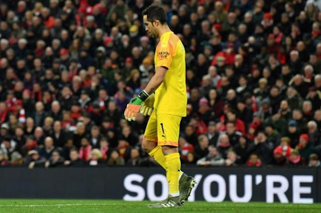 Manchester City's Claudio Bravo started instead of regular goalkeeper Ederson in the defeat to Liverpool (AFP Photo/Paul ELLIS)