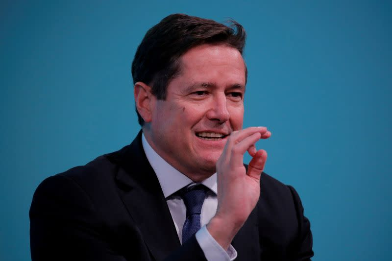 FILE PHOTO: Chief executive officer of Barclays, Jes Staley, takes part in the Yahoo Finance All Markets Summit in New York