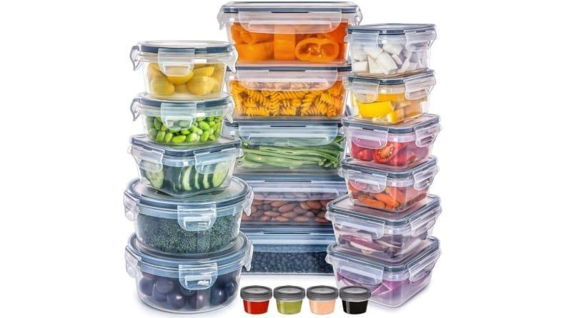 These containers are great for meal prepping.