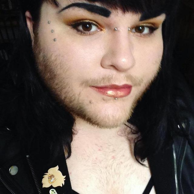 Nova Galaxia is now celebrating her facial and body hair. (Photo: Facebook)