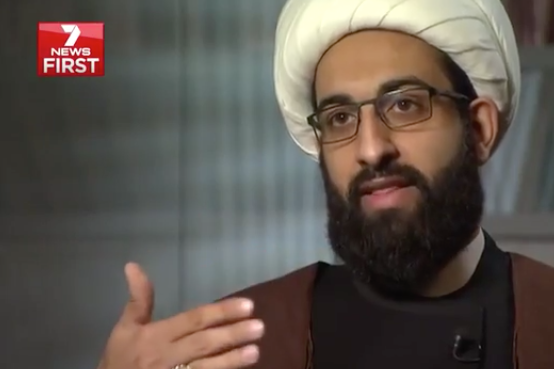 Sheikh Tawhidi is known for his controversial views on Islam. Photo: 7 News.
