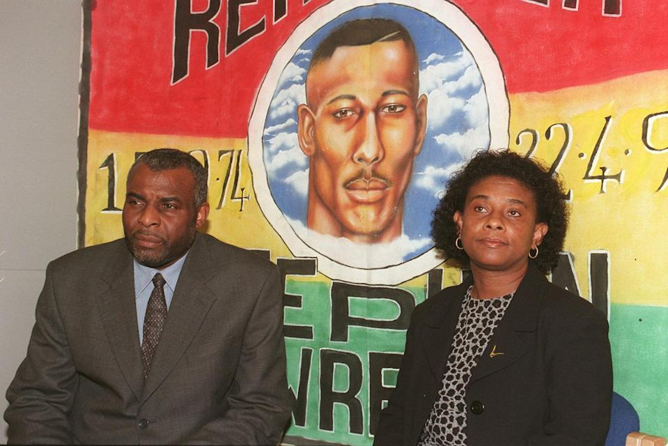 Stephen Lawrence's parents, Neville and DoreenPA