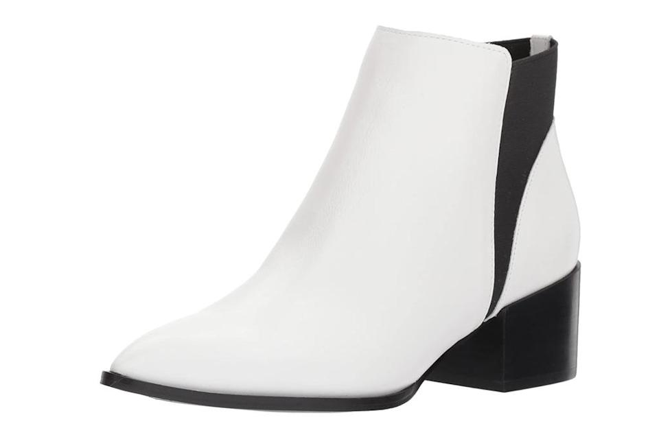 white boots, heels, shoes, chinese laundry