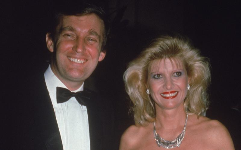 Ivana and Donald Trump at a party in the early 1980s - 2004 Getty Images