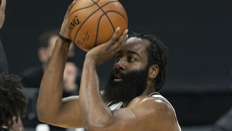 James Harden close up vs. Kings