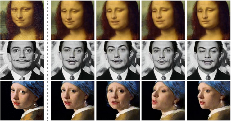 With deepfakes, even paintings can come alive. (Samsung AI Centre and Skolkovo Institute of Science and Technology)