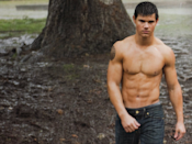 <p>When Taylor Lautner was cast, he ALMOST made me team Jacob (I mean, just LOOK at him). Before that, he had starred in the classic films <em>The Adventures of</em> <em>Sharkboy and Lava Girl in 3D </em>and <em>Cheaper by the Dozen 2.</em> So, it's safe to say that <em>Twilight</em> was his biggest role to date. Fun fact: he actually almost lost his role in the second movie because they wanted to get a physically bigger actor to show Jacob changing when he became a werewolf. Instead, Taylor started training like crazy and gained 30 pounds of muscle, and he got to keep the role.</p>
