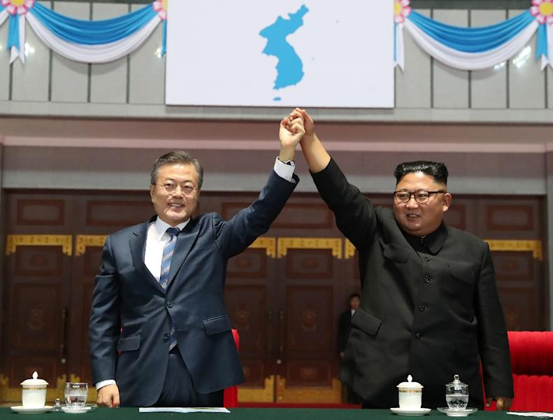South Korean President Moon Jae-in has sought to engage the North, hosting three summits with Kim (AFP Photo/-)