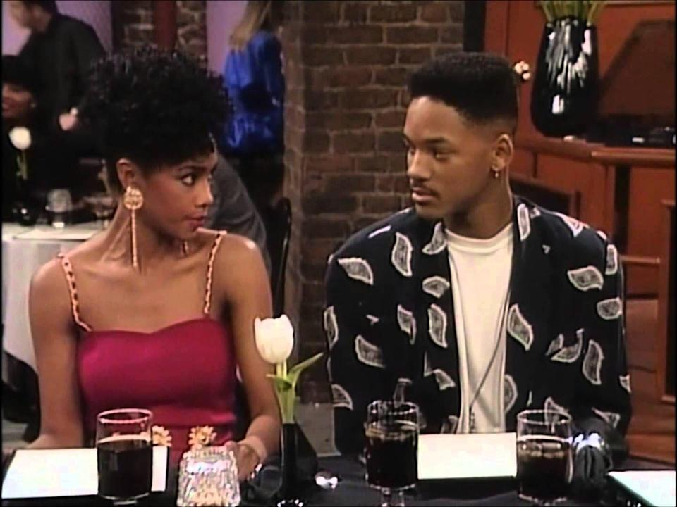 <p>You can catch Vivica A. Fox on season one of <em>The Fresh Prince of Bel-Air,</em> when she played Jazz's bossy and controlling sister Janet. She initially gets set up with Will, but when he doesn't like her personality, he tries setting her up with Carlton. His loss, TBH.<br></p>