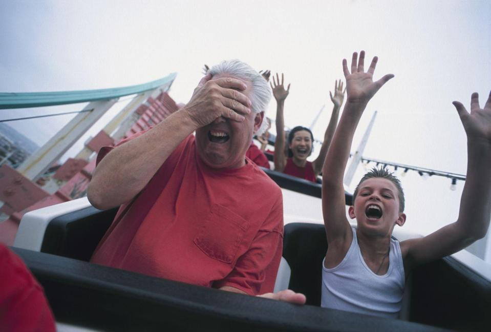 """<p>Depending on what's open by June 2021, it's possible Dad and the kids can enjoy the day at an amusement park. <a href=""""https://www.coaster101.com/2021/01/22/amusement-and-theme-park-2021-opening-dates-list/"""" rel=""""nofollow noopener"""" target=""""_blank"""" data-ylk=""""slk:This site"""" class=""""link rapid-noclick-resp"""">This site</a> keeps an updated list of which amusement parks are open, so be sure to do your research before heading out. </p>"""
