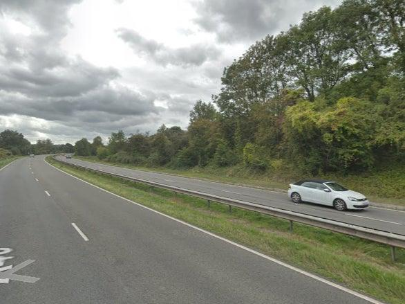 A collision between a silver Subaru and a HGV on the A40 near Oxford on 13 October resulted in the deaths of three young children and a 29-year-old woman from the same family (Google Maps)