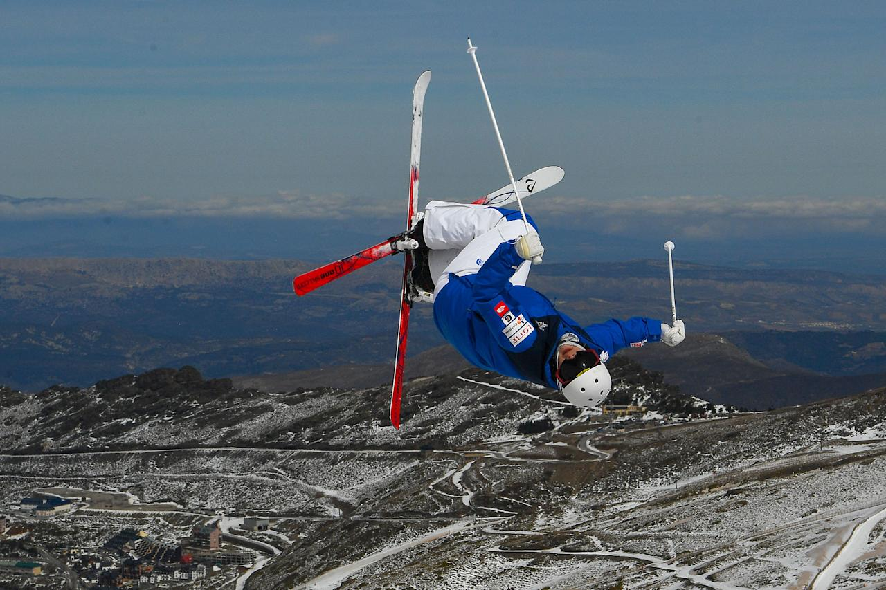 <p>An athlete makes a run during moguls training ahead of FIS Freestyle Ski & Snowboard World Championships 2017 on March 6, 2017 in Sierra Nevada, Spain. (David Ramos/Getty Images) </p>