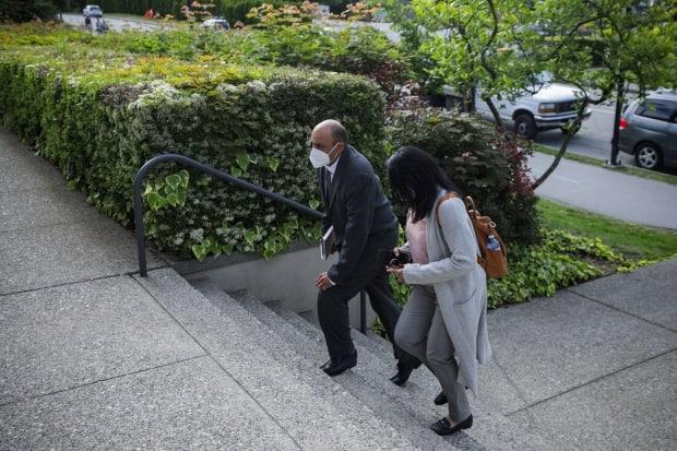 Vancouver police officer Jagraj Roger Berar arrives at North Vancouver provincial court on Monday, May 31, 2021.  (Ben Nelms/CBC - image credit)