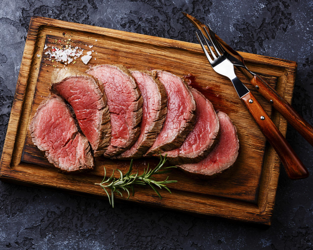 A rare steak should be cooked to an internal temperature of 130 degrees.  (Getty Images)