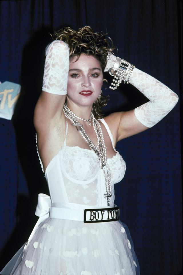 Madonna at the first MTV Video Music Awards, in 1984. (Photo: David McGough/DMI)