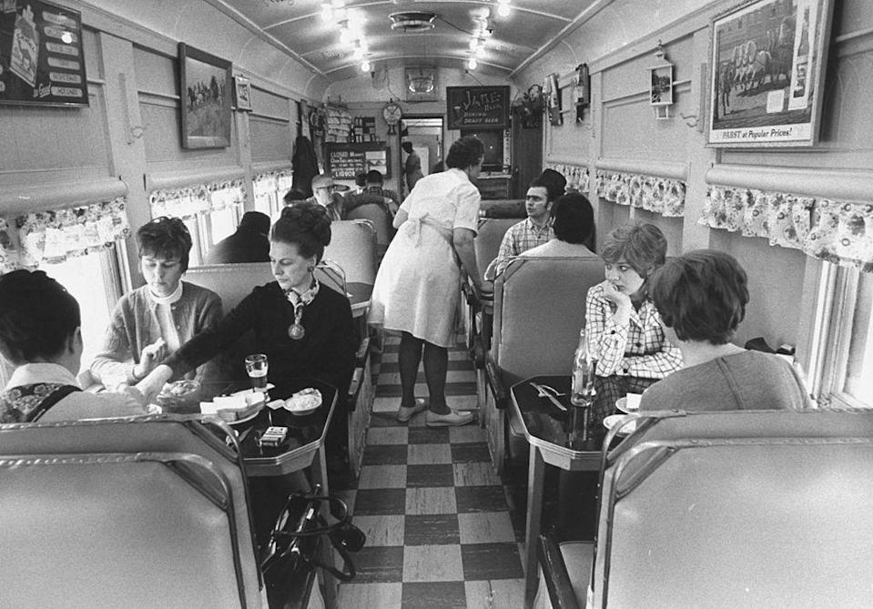 <p>Many diners across the country still had the look of a narrow dining or train car, such as this one, called Neal's Diner, back in the early '70s. </p>