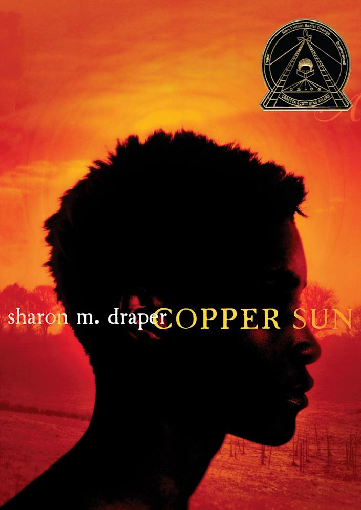 Sharon M. Draper's novel, an unflinching examination of the slave trade, is appropriate for somewhat older readers. It follows an Ashanti teenager, Amari, who is kidnapped by slavers, brought to the Carolinas, and sold to a plantation family, along the way seeing and experiencing shocking brutalities -- while still nursing a hope for freedom.