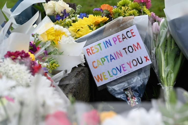 In the Bedfordshire village of Marston Moretaine where Sir Rom lived, well-wishers left a flood of floral tributes outside his home