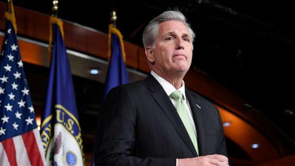 PHOTO: House Minority Leader Kevin McCarthy of Calif., speaks during a news conference on Capitol Hill in Washington, D.C., Dec. 19, 2019. (Susan Walsh/AP)