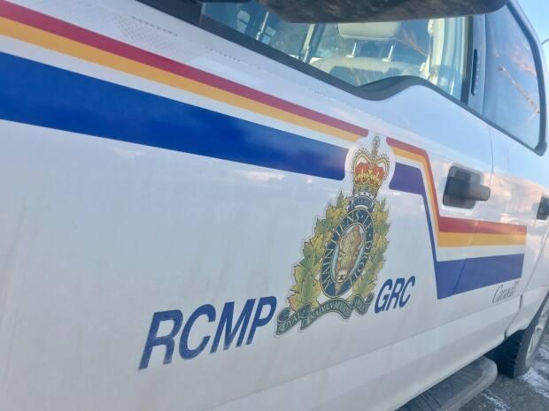 Nova Scotia RCMP arrived on the scene of the collision around 10 a.m. Tuesday. (David Bell/CBC - image credit)