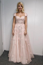 <p>Holly wore a blush bridal gown with a sweetheart neck for week four of 'Dancing on Ice'. <em>[Photo: Instagram]</em> </p>