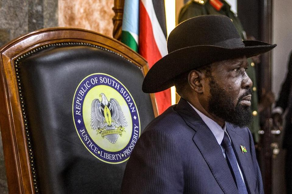 South Sudan's President Salva Kiir wants the talks to focus on how to press ahead with forming a unity government (AFP Photo/Stefanie Glinski)