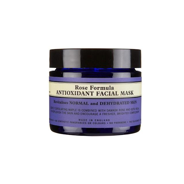 """<p>Instead of giving your mom a bushel of roses that probably won't last, give her this rose-formulated mask. It's pefect for parched skin and will quench thirsty skin with antioxidant organic wild rosehip oil and organic damask rose. With regular use, skin is left radiant, refreshed, and revitalized. <strong>Neal's Yard Remedies Rose Formula Antioxidant Facial Mask</strong>,<b> <a href=""""https://us.nyrorganic.com/shop/corp/area/shop-online/category/face-masks/product/0093/rose-formula-antioxidant-facial-mask-1-76oz/"""" rel=""""nofollow noopener"""" target=""""_blank"""" data-ylk=""""slk:$48"""" class=""""link rapid-noclick-resp"""">$48</a> </b>while supplies last. (Photo: Neal's Yard Remedies) </p>"""