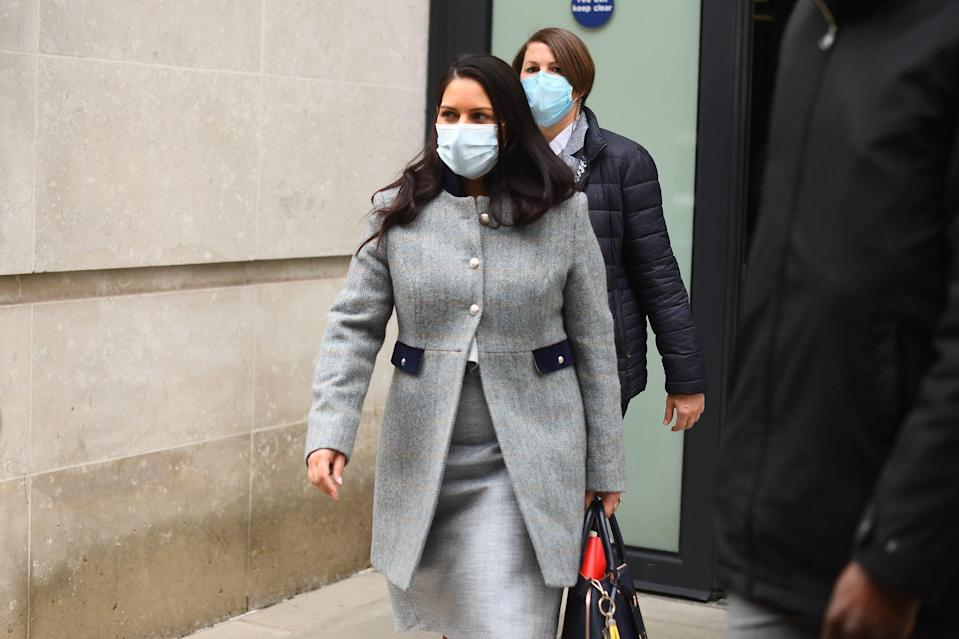 Priti Patel is facing calls to resign after allegations she misled MPs over public health advice given by Public Health Guidance in relation to Napier Barracks in Folkestone, Kent (PA)