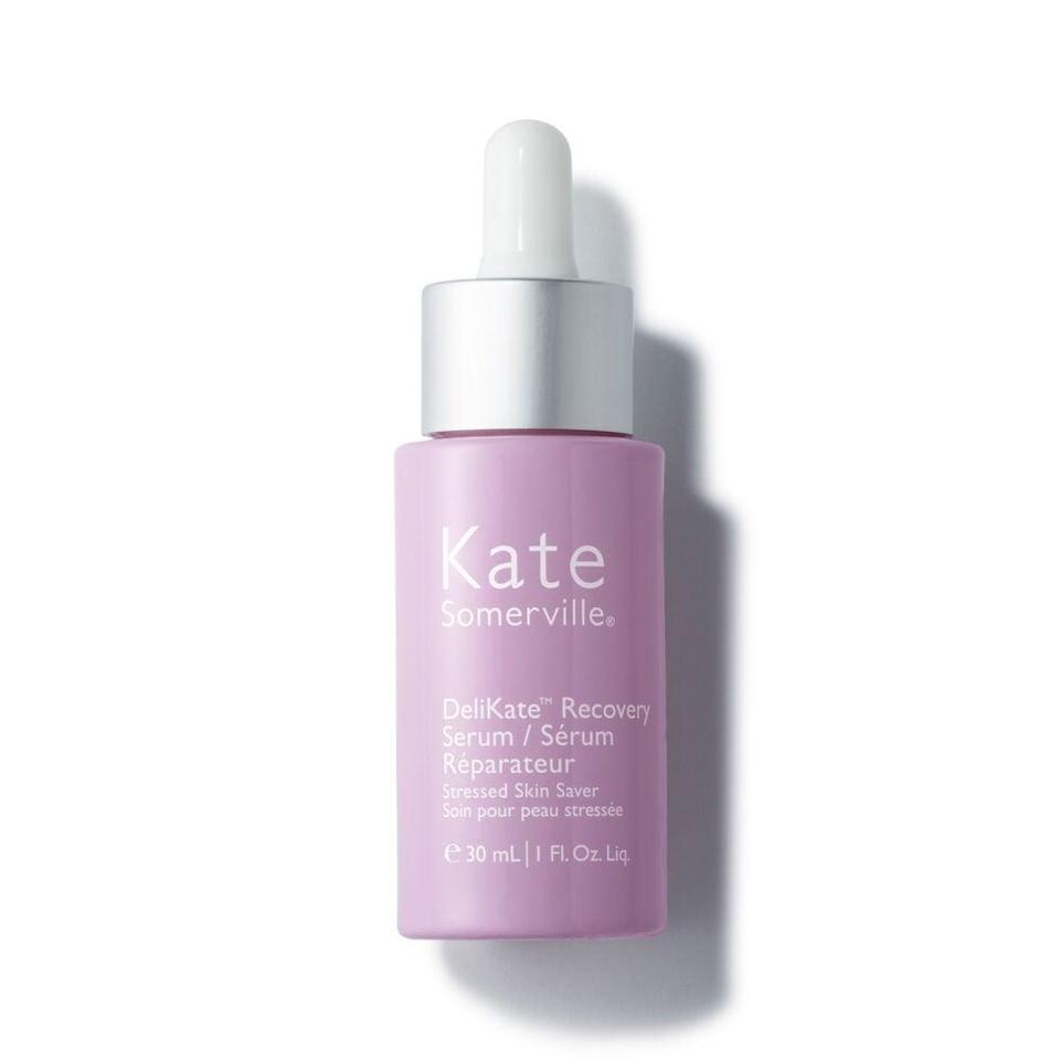 "<h3>Kate Somerville DeliKate Recovery Serum</h3><br>Inside this unassuming, vaguely clinical-looking bottle you'll find a lightweight concentrated serum that punches far above its weight. Dryness vanishes on contact, irritation feels soothed in seconds — all thanks to a potent yet calming blend of ceramides, fatty acids, and omega-rich plant oils, formulated without synthetic fragrance, for sensitive skin-friendly hydration that strengthens the natural moisture barrier over time.<br><br><strong>Kate Somerville</strong> DeliKate Recovery Serum, $, available at <a href=""https://go.skimresources.com/?id=30283X879131&url=https%3A%2F%2Fwww.katesomerville.com%2Fus%2Fen%2Fdelikate-recovery-face-serum-for-sensitive-skin%2F10364.html"" rel=""nofollow noopener"" target=""_blank"" data-ylk=""slk:Kate Somerville"" class=""link rapid-noclick-resp"">Kate Somerville</a>"